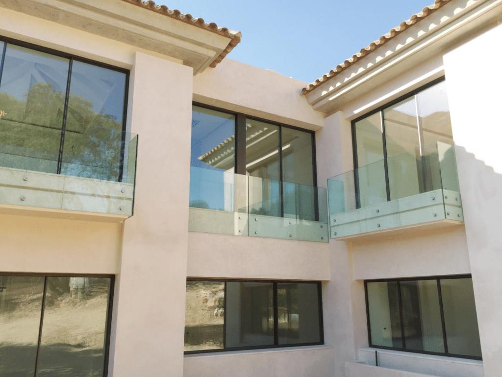 Botones para vidrio: exterior e interior