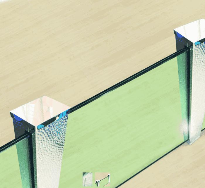 Chameleon Post, postes de diseños para barandillas de vidrio
