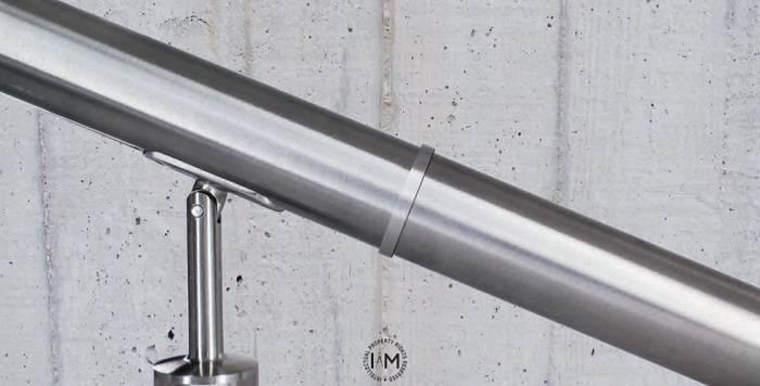 Accesorios de cubierta para tubo redondo. Curvas y juntas sin defectos