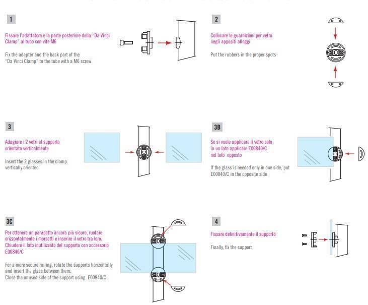 Instrucciones de instalación Pinzas Da Vinci