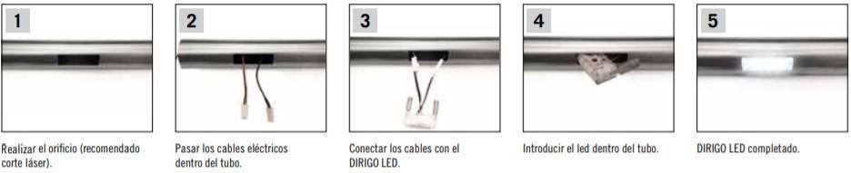 Pasos de instalación de Dirirgo Led System
