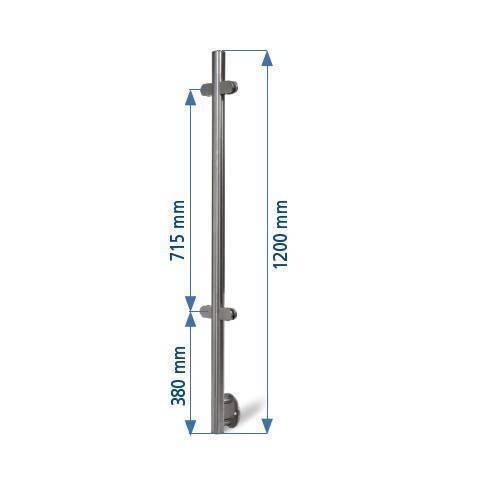 postes mecanizados anclaje lateral para vidrio