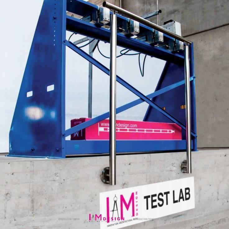prueba de seguridad de los postes mecanizados de anclaje lateral