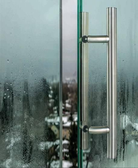 Tiradores de acero inoxidable para puertas de vidrio